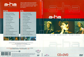 a-ha Switzerland Live Concert Festival, 2005 DVD and CD (front and back)