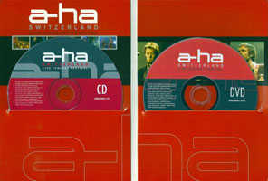 a-ha Switzerland Live Concert Festival, 2005 DVD and CD (inside and discs)
